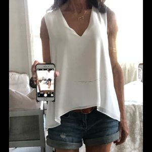 BCBG white blouse